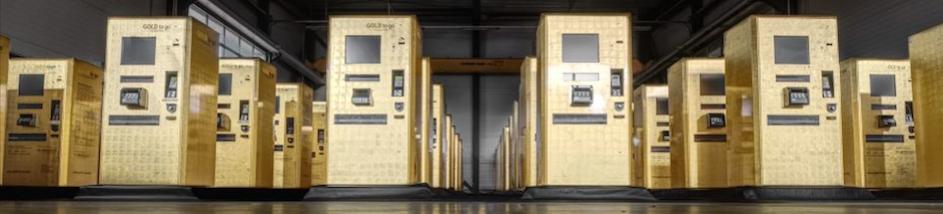 Dutzende GOLD-TO-GO-Automaten der Schweizer GOLD TO GO AG aus Küssnacht stehen zur Aufstellung in Deutschland bereit © GOLD TO GO AG
