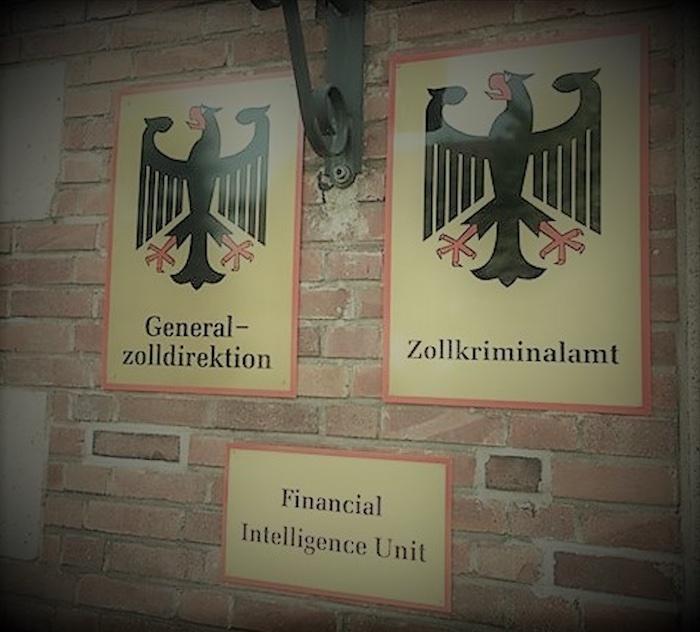 Eingang der Financial Intelligence Unit beim Zoll in Köln © Gewerkschaft der Polizei