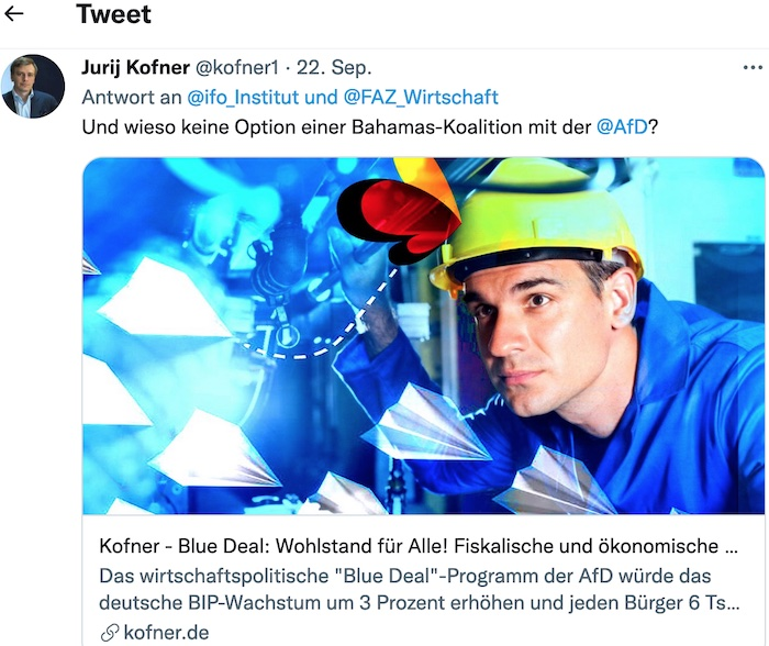 Juri Kofner Twitter 22. September 2021